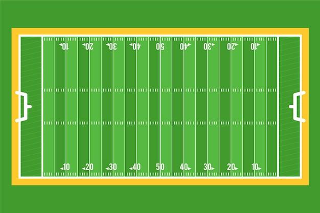 Flat design campo de futebol americano