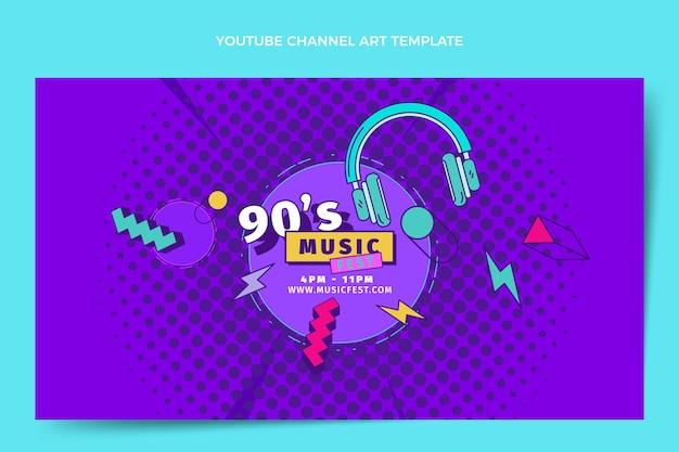 Flat design canal do youtube do festival de música dos anos 90