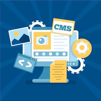 Flat design cms web design