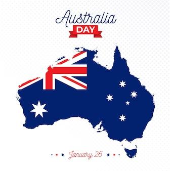Flat design dia da austrália