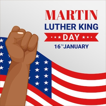 Flat design dia de martin luther king