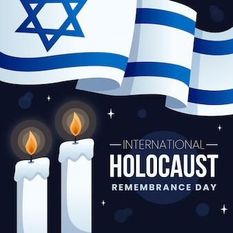 Flat design dia internacional da lembrança do holocausto