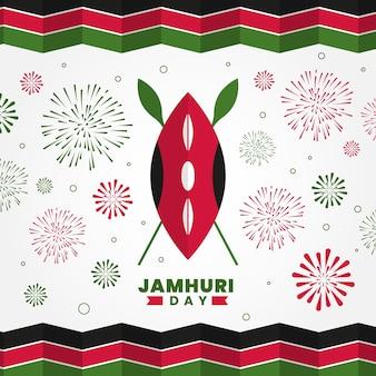 Flat design dia jamhuri