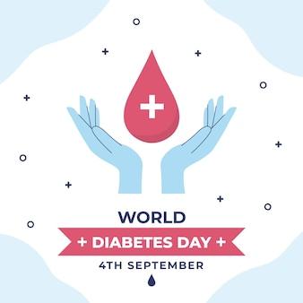 Flat design dia mundial da diabetes