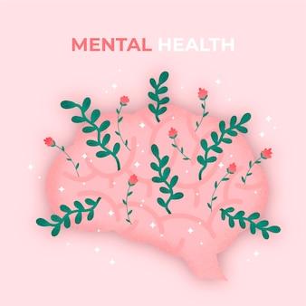 Flat design dia mundial da saúde mental