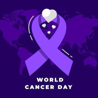 Flat design dia mundial do câncer