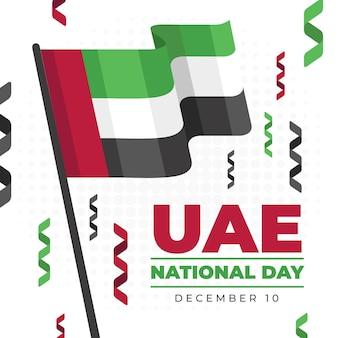 Flat design dia nacional dos emirados árabes unidos