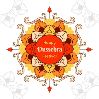 Flat design dussehra evento