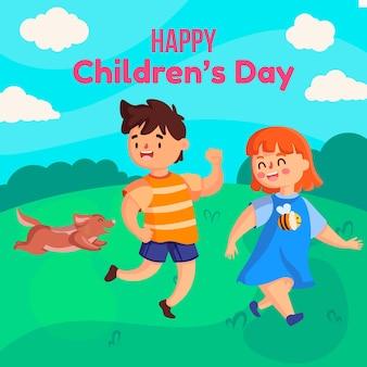 Flat design - evento do dia mundial da criança
