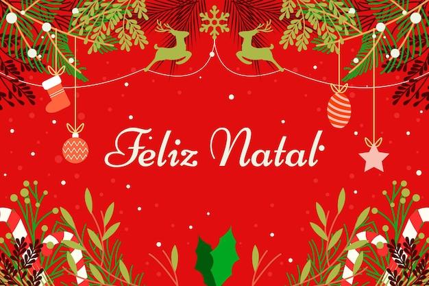 Flat design feliz natal