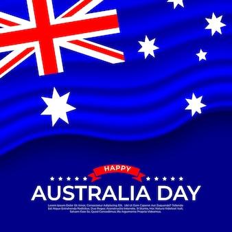 Flat design flag dia da austrália