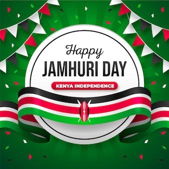 Flat design jamhuri day com bandeira