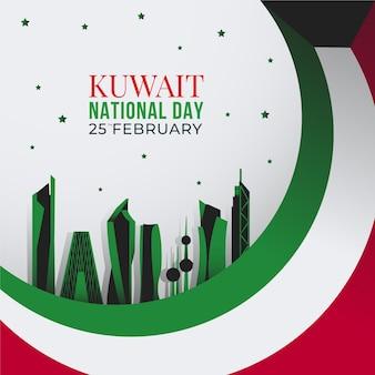 Flat design kuwait dia nacional