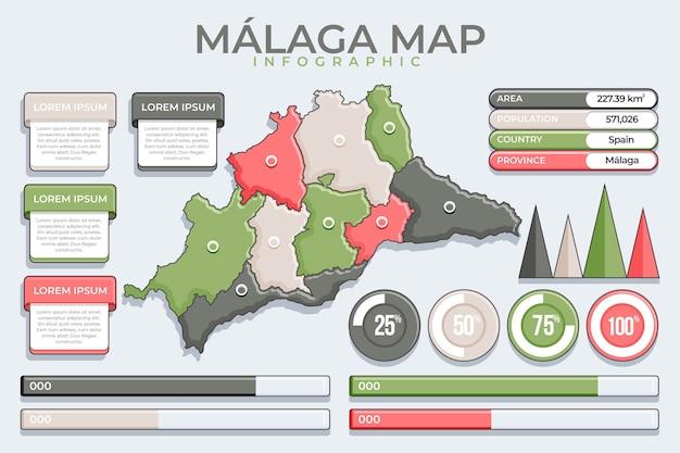 Flat design méxico mapa