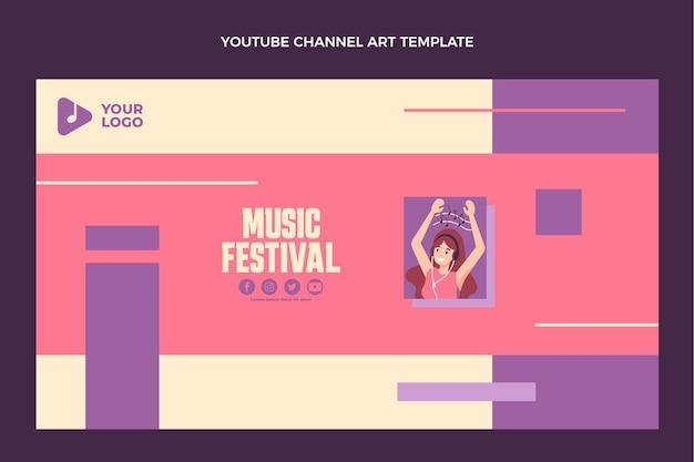 Flat design minimal music festival youtube channel