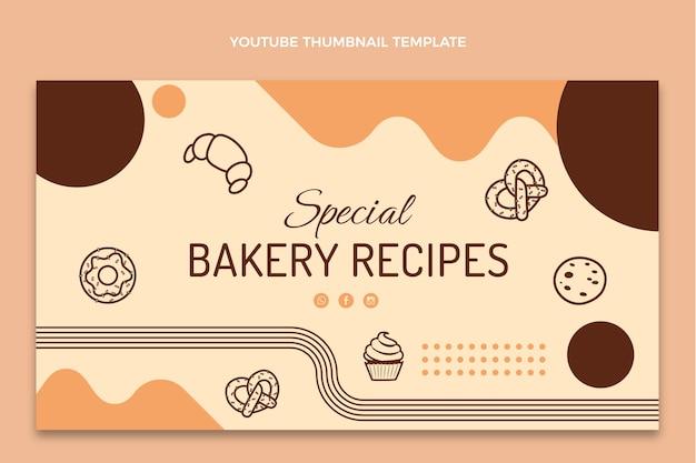 Flat design receitas de padaria youtube thumbnail