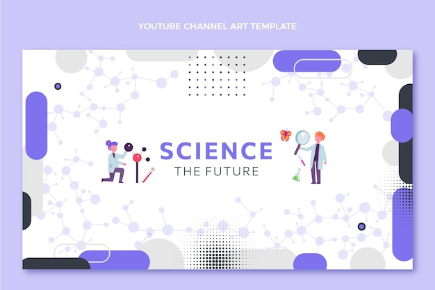 Flat design science youtube cover