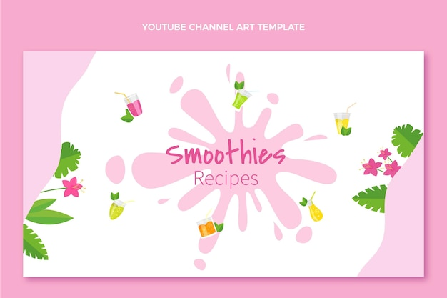 Flat design smoothies canal do youtube