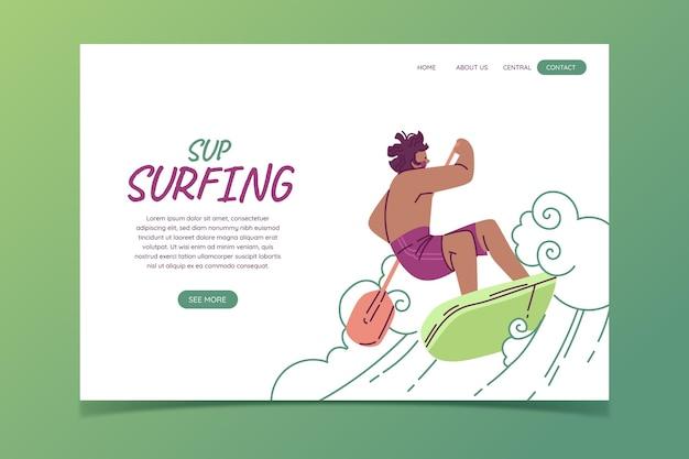 Flat design sup landing page