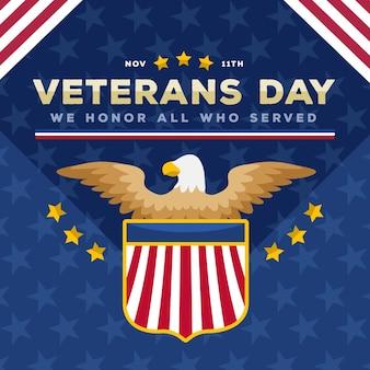 Flat design veterans day event
