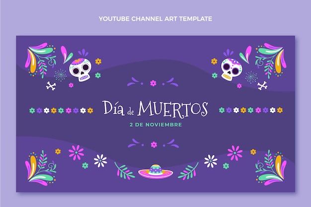 Flat dia de muertos arte do canal do youtube