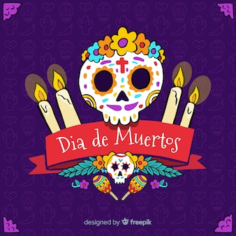 Flat día de muertos background design