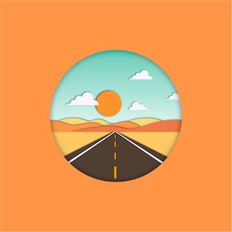 Flat estrada reta