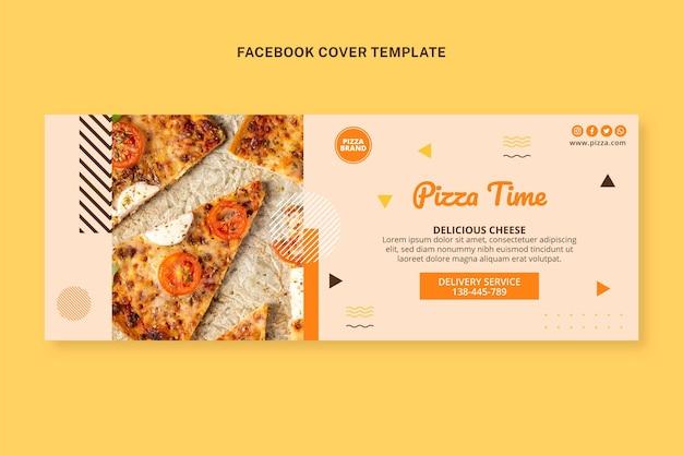 Flat food capa do facebook