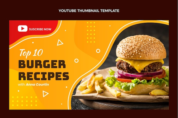 Flat food youtube thumbnail