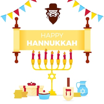 Flat hanukkah festival