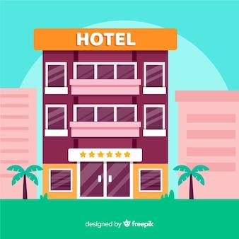 Flat hotel edifício ilustração