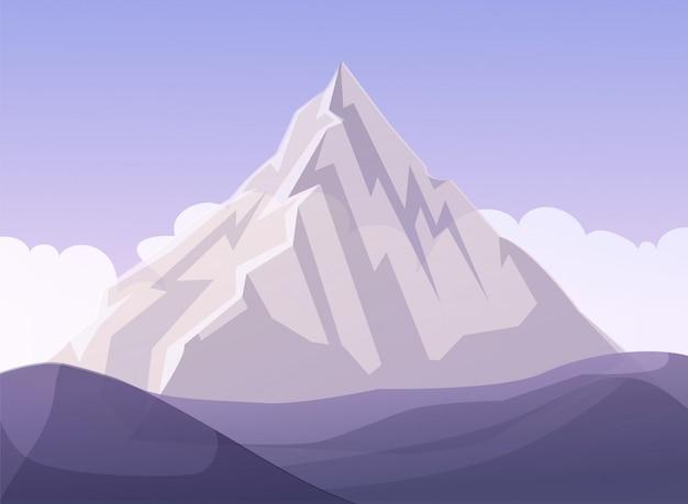 Flat mountain business metáfora dos desenhos animados