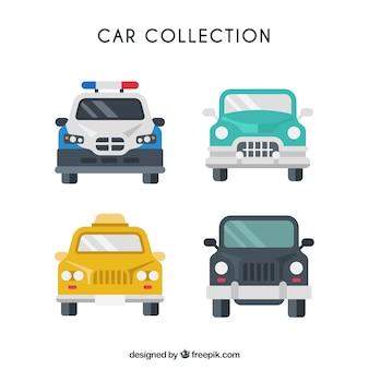 Flat pack de automóveis coloridas