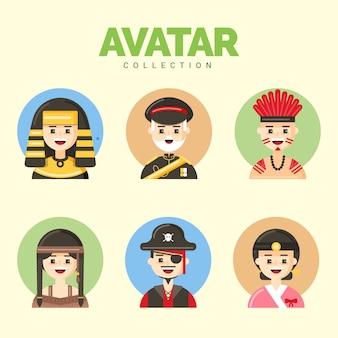 Flat pack de avatares masculinos legais
