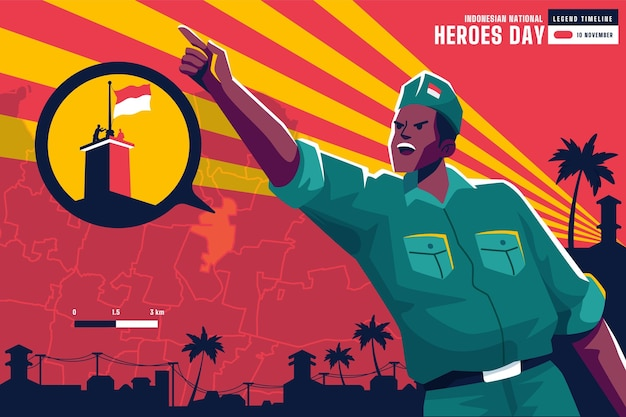 Flat pahlawan / dia dos heróis