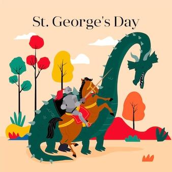 Flat st. ilustração do dia de george