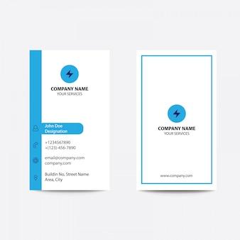 Flat style blue color cartões de visita