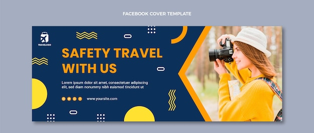 Flat travel facebook cover