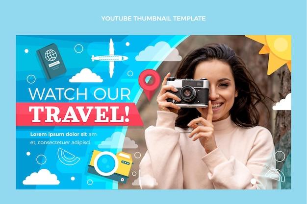 Flat travel youtube thumbnail