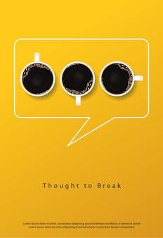 Flayers da propaganda do poster do café