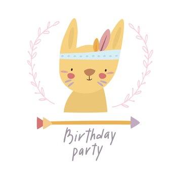 Flecha de lebre de aniversário de festa
