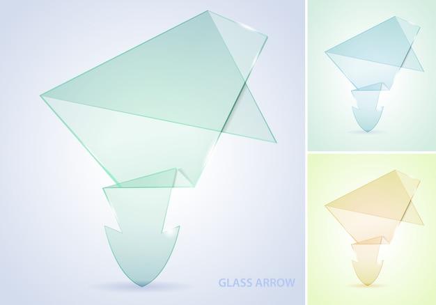 Flecha de vidro