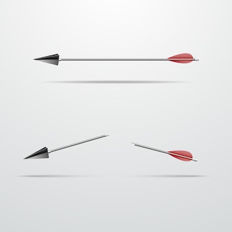 Flecha para um arco inteiro e partido ao meio ilustração vetorial