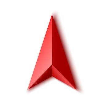 Flecha vermelha.