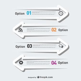 Flechas infográfico gratuitos modelo moderno