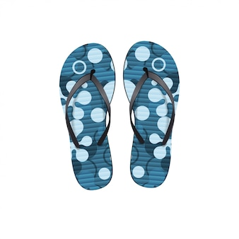 Flip-flops com textura havaiana isolado no fundo branco