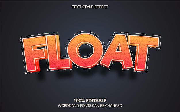 Float estilo de efeito de texto editável