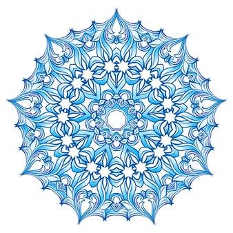 Floco de neve azul