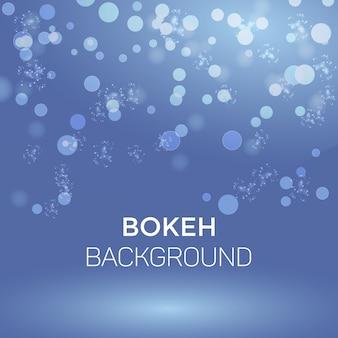 Floco de neve de inverno abstrato bokeh de fundo