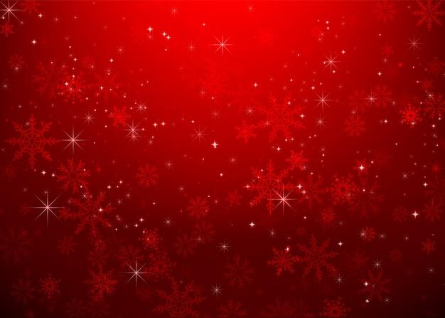 Floco de neve de natal e luz das estrelas bakcground abstrata